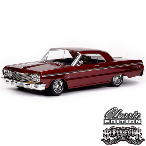 1/10 Chevrolet Impala SS  1964 RC Car Hopping Lowrider Red