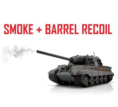 1/16 Torro German Jagdtiger RC Tank 2.4G IR Metal Edition PRO Grey Smoke Barrel