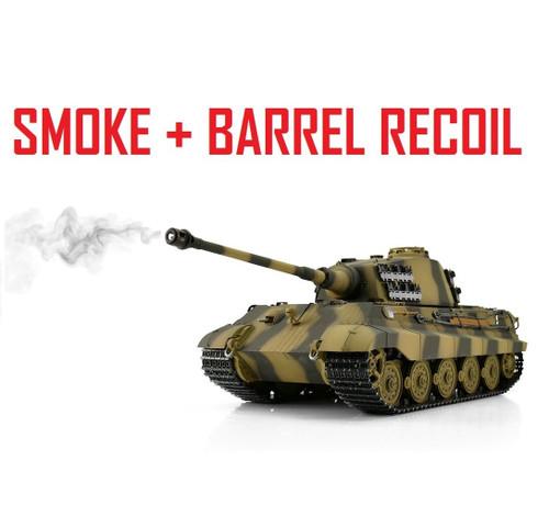 1/16 Torro King Tiger Henschel RC Tank 2.4G IR Metal Edition PRO Smoke Barrel