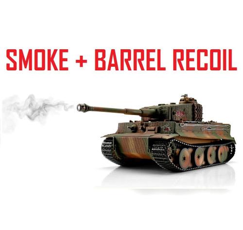 1/16 Torro Tiger I Mid RC Tank 2.4G IR Metal Edition PRO Camo Smoke Barrel