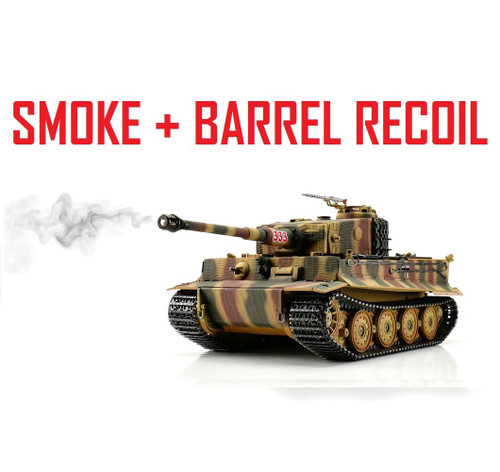 1/16 Torro Tiger I Late RC Tank 2.4G IR Metal Edition PRO Camo Smoke Barrel