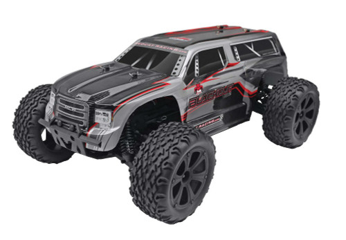 1/10 Blackout XTE RC Monster Truck 4WD Electric 2.4GHz Silver SUV
