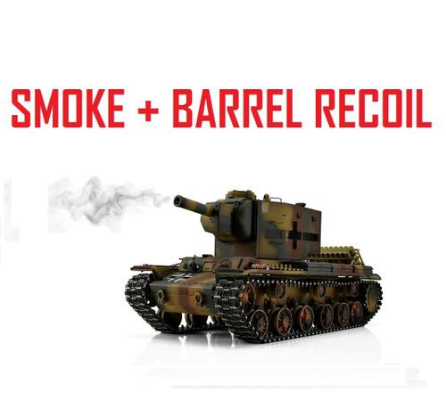 1/16 Torro Russian KV-2 754r RC Tank 2.4G IR Metal Edition PRO Smoke Barrel