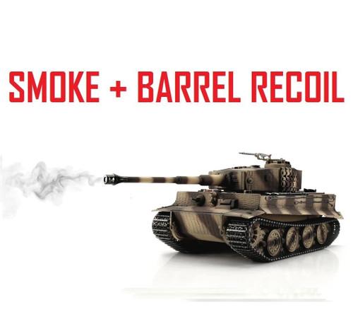 1/16 Torro Tiger I Late RC Tank 2.4G IR Metal Edition PRO Desert Smoke Barrel
