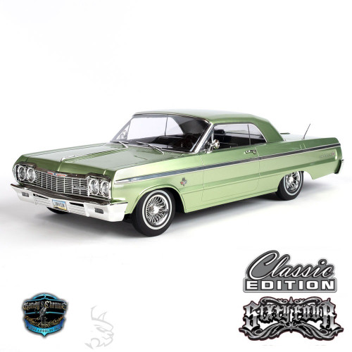 1/10 Chevrolet Impala SS  1964 RC Car Hopping Lowrider  Kandy & Chrome Edition Green