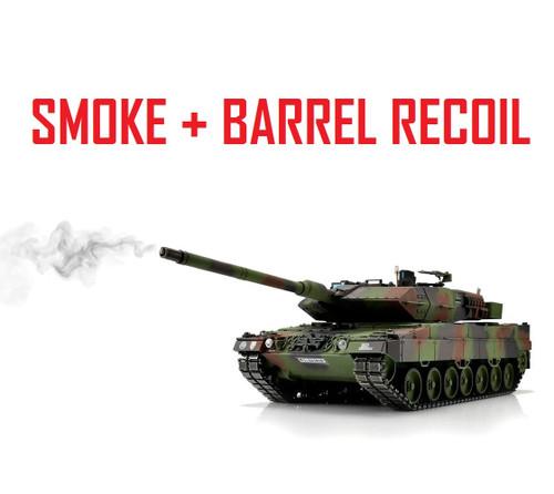1/16 Torro Leopard 2A6 RC Tank 2.4G IR Metal Edition PRO NATO Smoke Barre