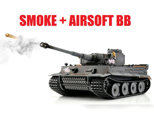 1/16 Torro Tiger I Early Version RC Tank 2.4GHz Airsoft Metal Edition PRO Smoke Barrel
