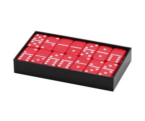 Dominoes Double 6 Jumbo Size Red Color