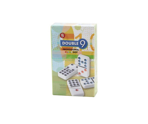 Dominoes Double 9 Professional Size Color Dot