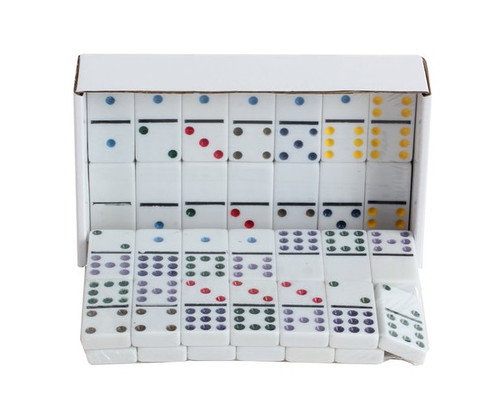 Dominoes Double 9 Professional Size Color Dot & Hub