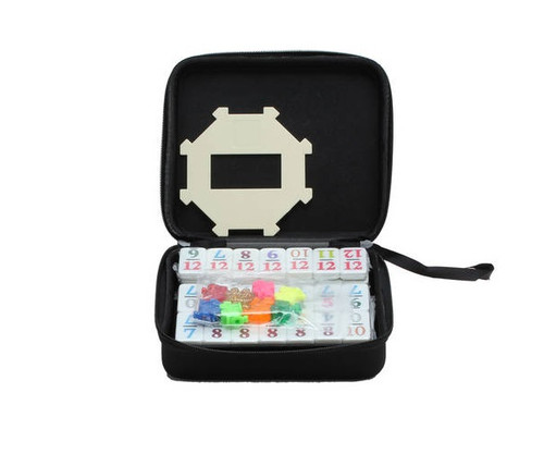 Dominoes Double 12 Mini Size Color Number & Hub Mexican Train