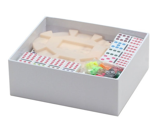 Dominoes Double 12 Professional Size Color Dot & Hub Mexican Train