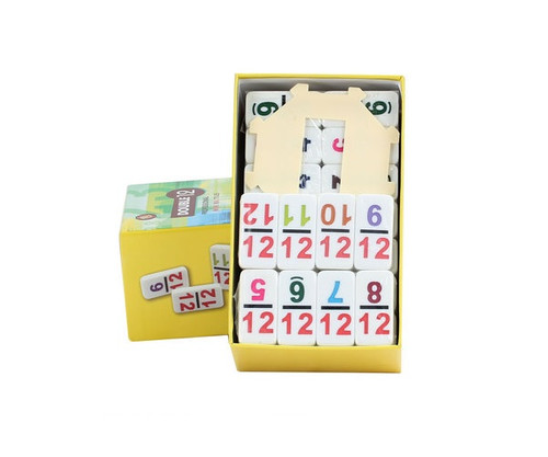 Dominoes Double 12 Professional Size Color Number & Hub