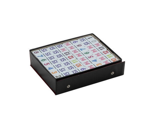 Dominoes Double 15 Professional Size Color Number in Vinyl Case