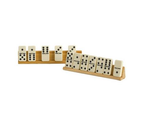Wooden Domino Tile Holder 2pc