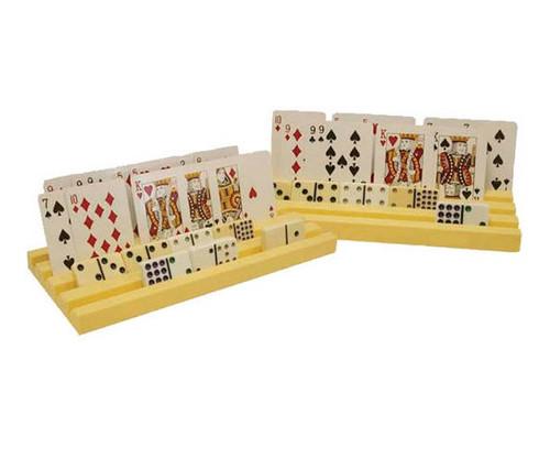 Plastic Domino Tile & Card Holder 2pc