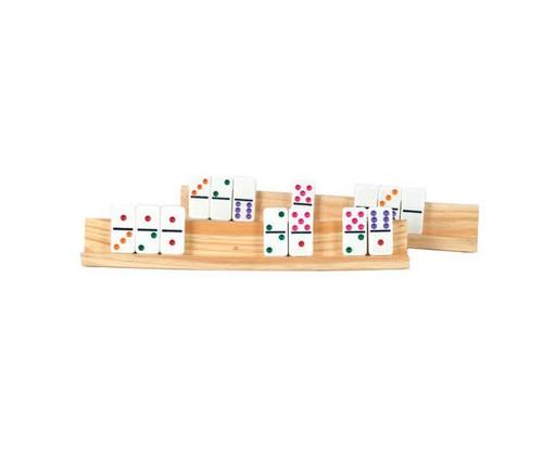 Large Wooden Domino Tile Holder 2pc