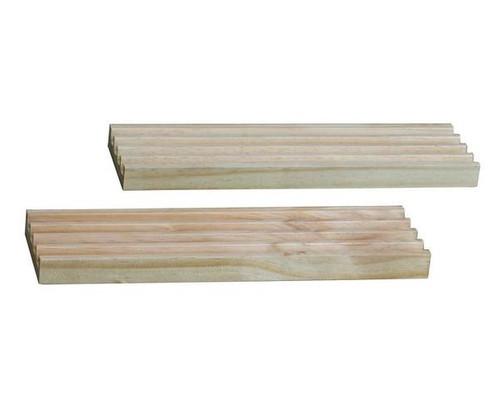 Wooden 4 Slot Domino Tile & Card Holder 2pc