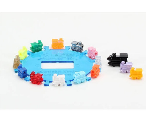 Plastic Mexican Train Center Hub with Train Markers