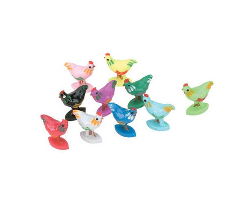 Assorted Color Chicken Dominoes Marker 10 pcs