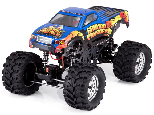 1/10 Ground Pounder RC Monster Truck 4WD  Electric 2.4GHz Blue