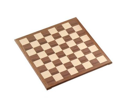 "15"" Walnut Veneer Chess Board"
