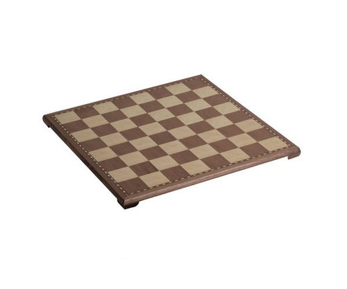 "18"" Walnut Veneer Chess Board"