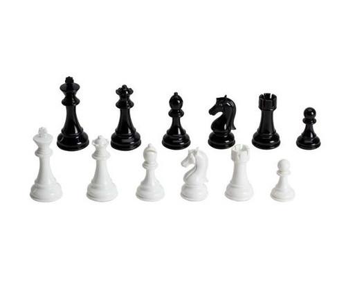 """4 1/4"""" Black & White Chessmen"""