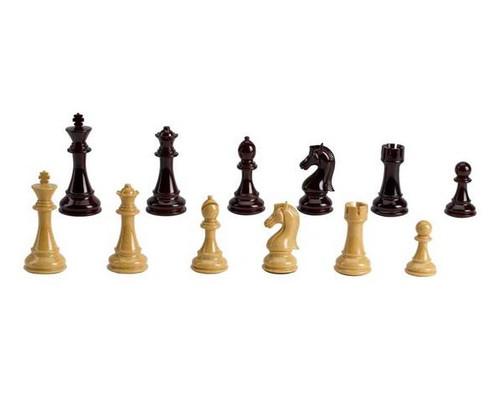 "4 1/4"" Tan & Burg Chessmen"