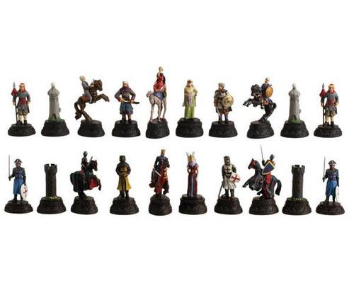 Medieval Crusade Metal Chessmen