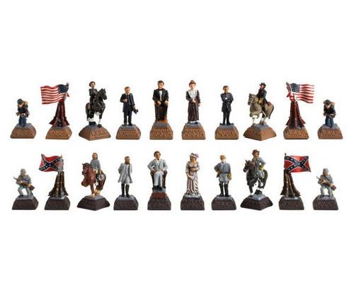 American Civil War Poly Chessmen