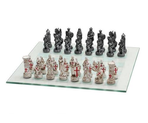 Crusaders vs Ottoman Empire Metal Chess Set
