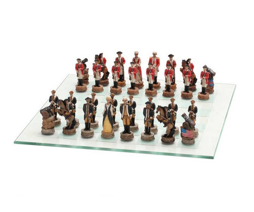 America Revolution War Chess Set