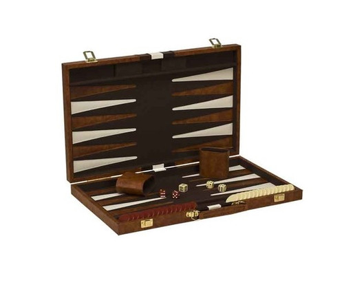 "18"" Vinyl Brown & White Backgammon"