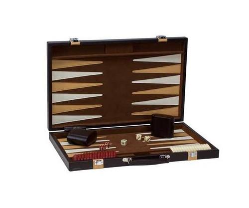 "18"" Vinyl Brown & Tan Backgammon"