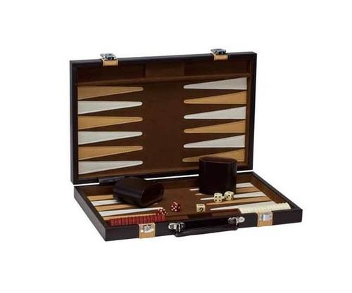 "15"" Vinyl Brown & Tan Backgammon"
