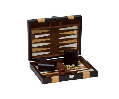 "9"" Vinyl Brown & Tan Backgammon"