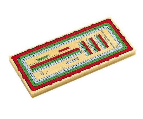 """14"""" Deluxe 3 Track Color Cribbage"""
