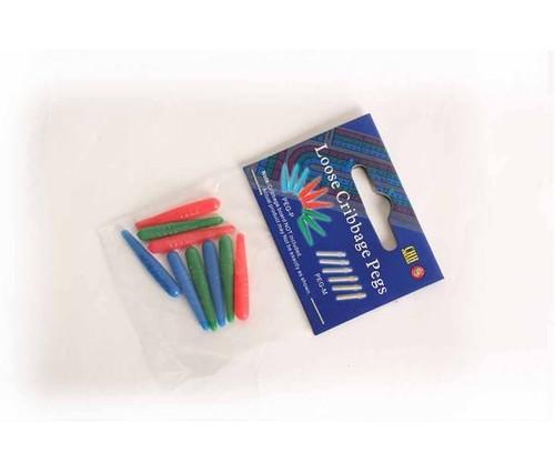 3 Color Plastic Pegs 9 pcs