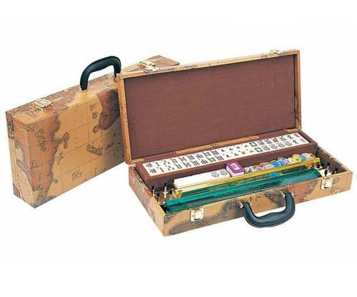 Western Mah Jong in Map Case with Pusher