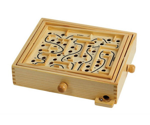 "12"" Wooden Labyrinth"