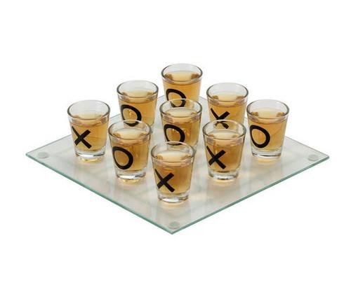 Drinking Tic Tac Toe Shot Glass Game