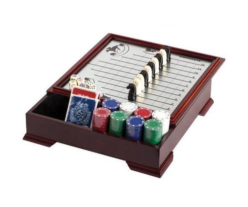 Horse Racing & Checker Game Set