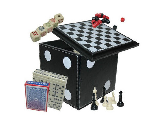 5 in 1 Dice Cube Game Set Black