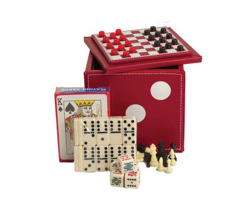 5 in 1 Dice Cube Game Set Red