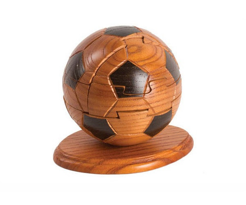 """4"""" Wooden Soccer ball Puzzle & Stand"""