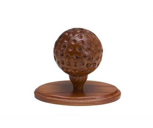 """3"""" Wooden Golf Ball Puzzle & Stand"""