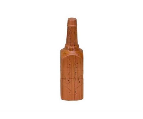 Wooden Square Bottle Puzzle