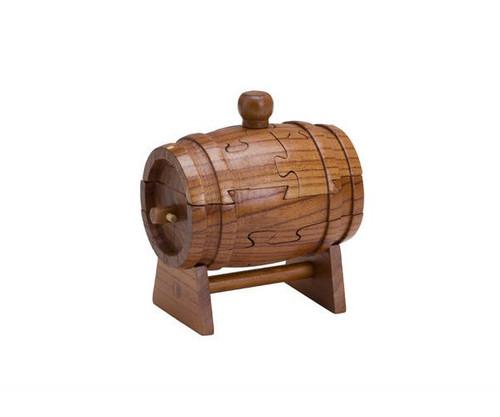 Wooden Beer Keg Puzzle