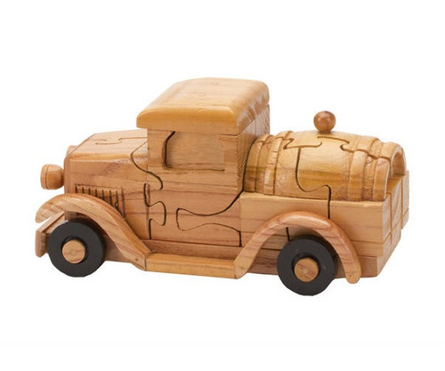Wooden Truck with Beer Keg Puzzle